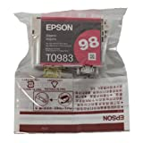 Genuine Epson T098 Magenta Ink Cartridge T098320 (1 Magenta)