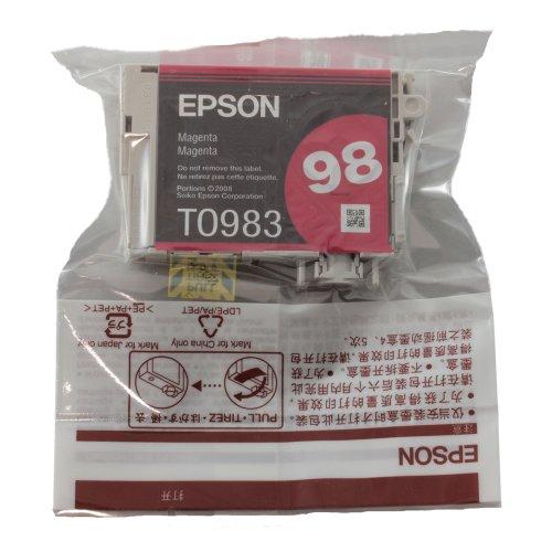 Genuine Epson T098 Magenta Ink Cartridge T098320 (1 Magenta)