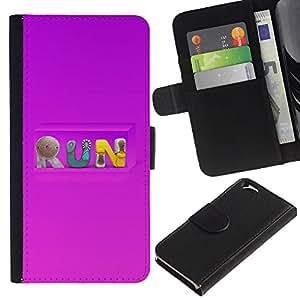 EuroCase - Apple Iphone 6 4.7 - Run - Cuero PU Delgado caso cubierta Shell Armor Funda Case Cover