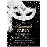 Amazon Silver Black Masquerade Ball Personalized