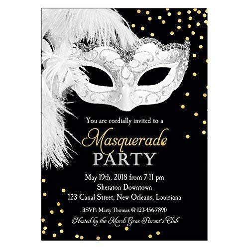 Amazon Masquerade Invitation