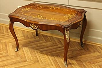 GroBartig LouisXV Tisch Couchtisch Barock Rokoko Antik Stil MoTa1319ASo Antik Stil  Massivholz. Replizierte Antiquitäten Buche (