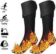 pedkit Aquecedores de pés com meias aquecidas elétricas para homens e mulheres, movidos a bateria recarregável
