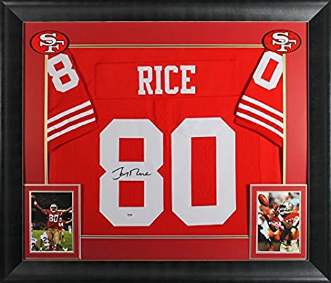 new product ec601 423a4 49ers Jerry Rice Authentic Signed & Framed Red Jersey ...