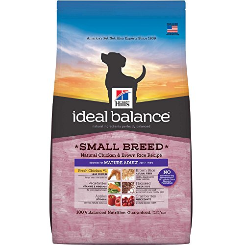 Hill'S Ideal Balance Mature Adult Small Breed Natural Chicken & Brown Rice Recipe Dry Dog Food, 15 Lb Bag For Sale