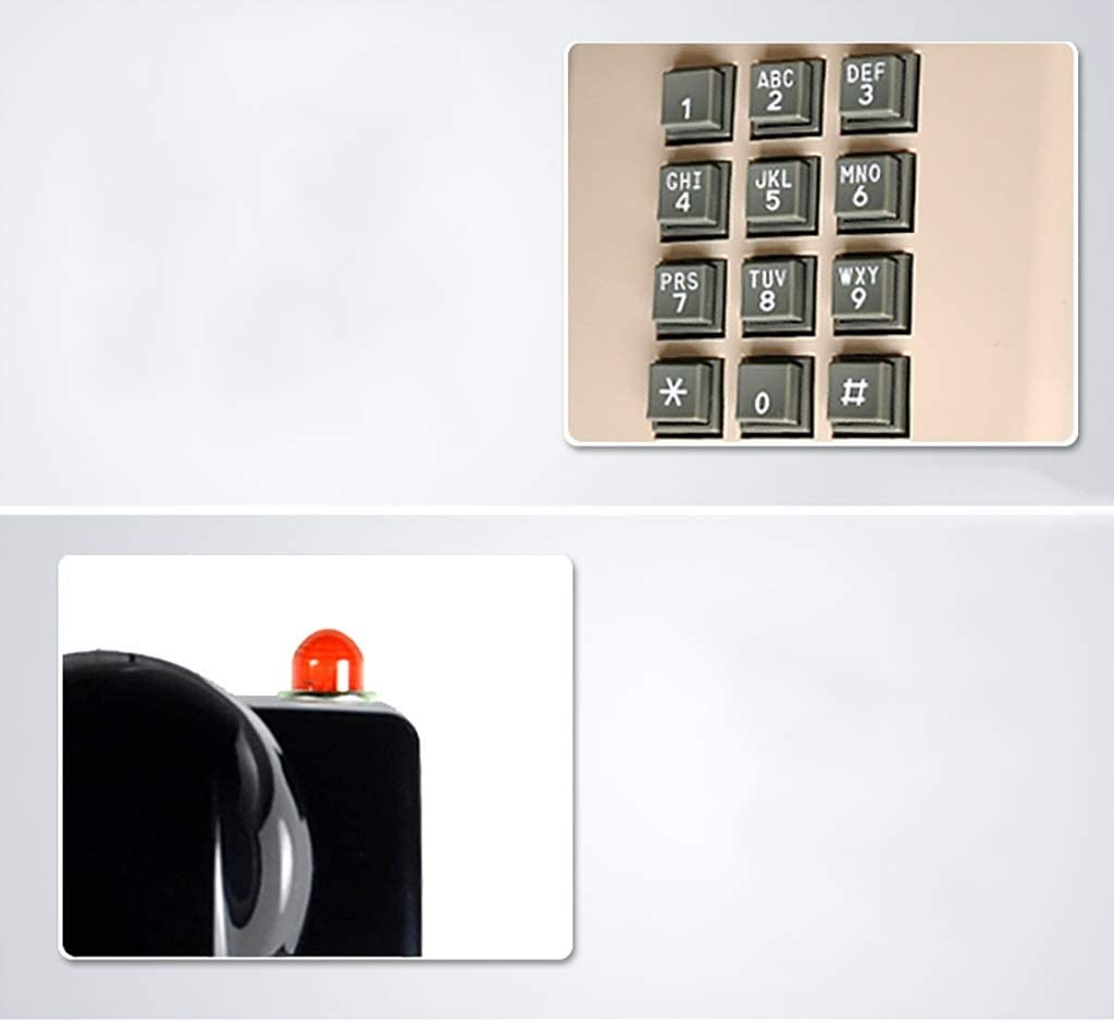 ZHPRZD Wall-Mounted Antique Telephone Classic Retro Bathroom Phone Metal Ringing Classical Telephone Color : B