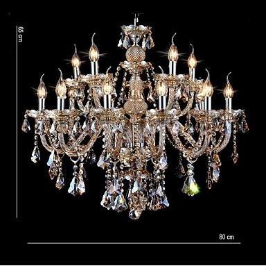 YanCui@ Chandelier Crystal Cognac Color Luxury Modern Fashion 2 Tiers Living 15 Lights , multi color-110-120v by YanCui Manufacturer (Image #2)