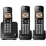 Telefone Sem Fio Panasonic com 3 Ramais, bina e Viva voz