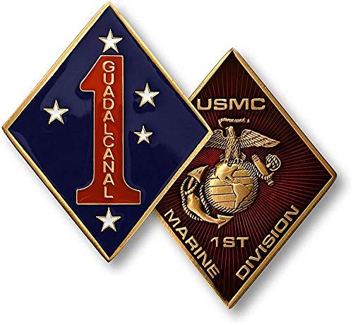 USMC U.S. Marine Corps 1st Marine Division Challenge Coin - Marine Division Challenge Coin