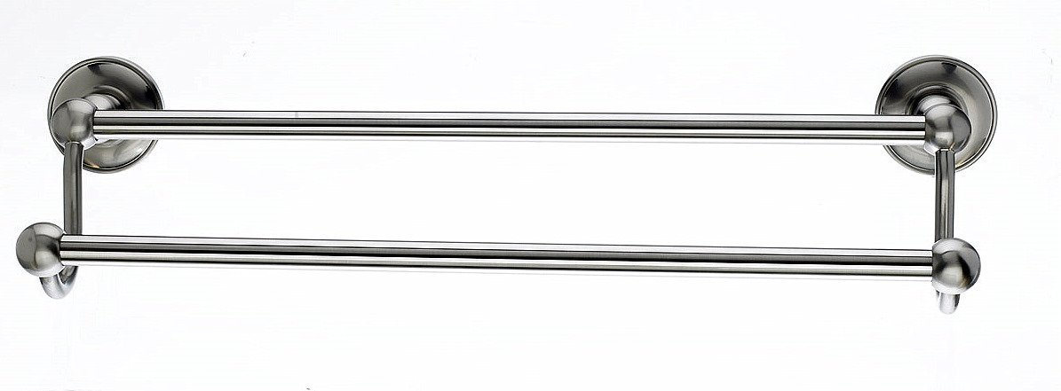 Top Knobs ED11BSND Bath Edwardian Collection 30 Inch Double Towel Bar with Smooth Backplate, Brushed Satin Nickel Finish