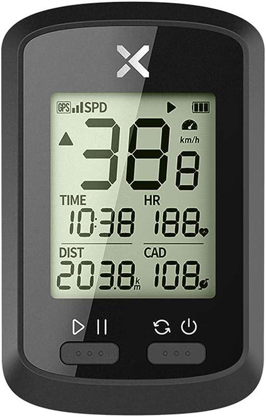 Fesjoy Computadora de Ciclismo GPS Inteligente BT Ant + Computadora de Bicicleta inalámbrica Velocímetro Digital IPX7 Computadora de Bicicleta precisa con Cubierta Protectora: Amazon.es: Deportes y aire libre