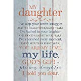 My Daughter I Hold You Dear 6 x 9 Wood Plank Look Wall Art Plaque