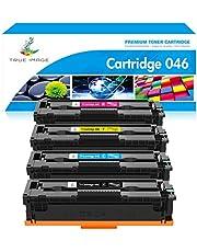 True Image Compatible Toner Cartridge Replacement for Canon 046 MF733Cdw CRG-046 Color ImageCLASS MF733Cdw MF731Cdw MF735Cdw LBP654Cdw MF733 Printer Ink (Black Cyan Yellow Magenta, 4-Pack)