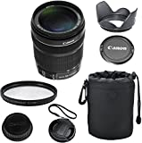 Canon EF-S 18-135mm f/3.5-5.6 IS STM Celltime Deluxe Zoom Lens Kit for Canon EOS 7D, 60D, EOS Rebel SL1, T1i, T2i, T3, T3i, T4i, T5i, XS, XSi, XT, XTi Digital SLR Cameras (White Box)
