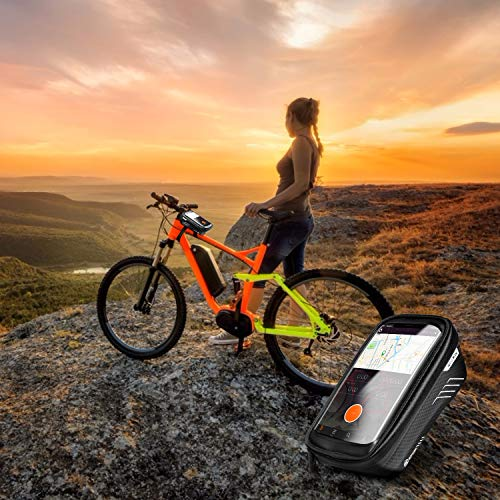 """for Android//iPhone Cellphones Under 6.5/"""" WILD MAN Bike Bicycle Bag Waterproof Bike Phone Mount Bag Front Frame Top Tube Handlebar Bag with Touch Screen Holder Case for iPhone X XS Max XR 8 7 Plus"""
