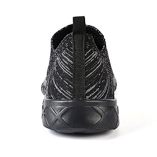 Feetmat Mens Slip auf Wasser Schuhe sportliche Wanderschuhe Schwarz2