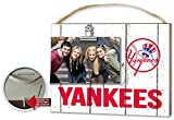 "KH Sports Fan x8"" New York Yankees Clip It Weathered Logo Photo Frame, 10"" x 8"""