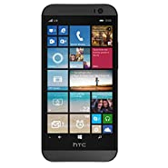 HTC One M8 32GB Unlocked GSM 4G LTE Windows 8.1 Smartphone - Gunmetal Grey (Certified Refurbished)