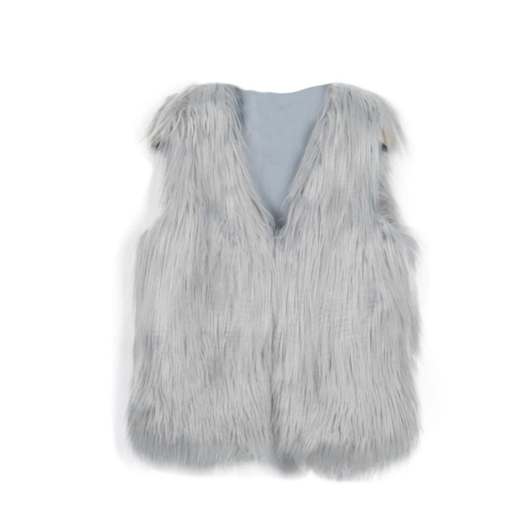DaySeventh Baby Faux Fur Girl Sleeveless Vest Waistcoat Jacket Coat Outwear DaySeventh-22