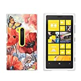 Protective Case For Nokia Lumia 920 Slim Two Piece Snap On Case Hard Plastic Rubberize Feel Spring Canvas