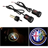 WONFAST® For ALFA ROMEO Car Auto Laser Projector Logo Illuminated Emblem Under Door Step courtesy Light Lighting symbol sign badge LED Glow Performance