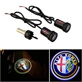 auto alfa romeo - WONFAST® For ALFA ROMEO Car Auto Laser Projector Logo Illuminated Emblem Under Door Step courtesy Light Lighting symbol sign badge LED Glow Performance