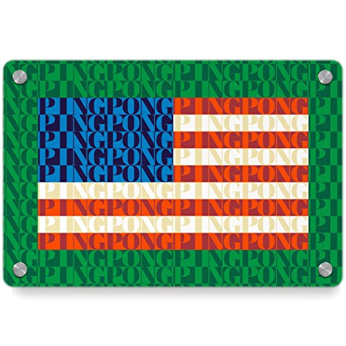 American Flag Mosaic | Ping Pong Metal Wall Art Panel by ChalkTalkSPORTS | Multiple Colors