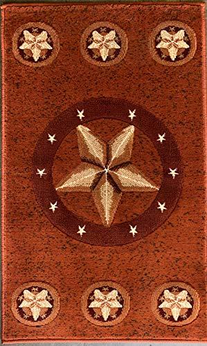 - Skinz Texas Lone Star Door Mat Area Rug Rust Burgundy Beige Design 78 (2 Feet X 3 Feet 4 Inch)