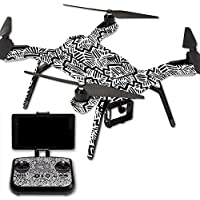 MightySkins Protective Vinyl Skin Decal for 3DR Solo Drone Quadcopter wrap cover sticker skins Abstract Black