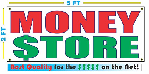MONEY STORE All Weather Full Color Banner Sign by SuperSigns