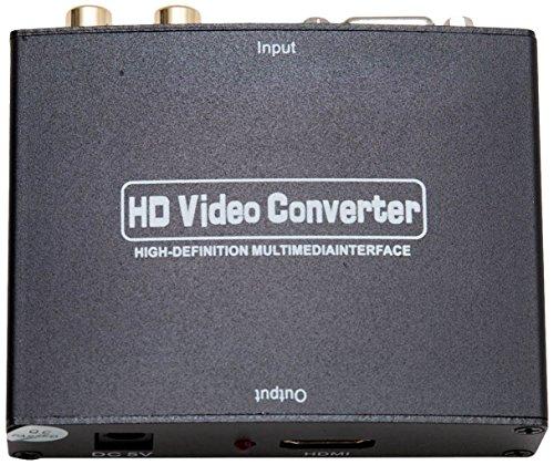 IO Crest VGA HD15 + Stereo RCA to HDMI 1.3 Converter Box Accessory Box, Black (SY-ADA31049)