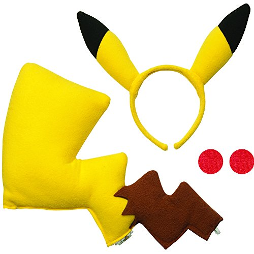 Ash Ketchum And Pikachu Costume (Rubie's Pikachu Costume Kit)