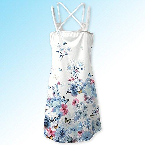 Casual Floral Corto Playa En Mujer Vestido Modaworld De K Bohe Estampado Verano Con Blanco Tank Sin Cortos 3d Vestidos Mangas Tirantes Niña xYYqS4Pw