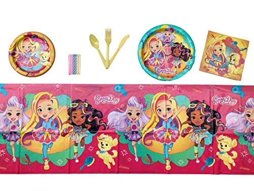 Sunny Day Birthday Party Supplies Tableware Bundle Set for 16 Guests ()