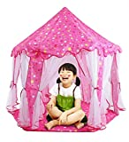 Image of Pink Playhouses for Kids, Lovely Fairy Princess Castle Kids Play Tent Children Indoor and Outdoor Use, Large Room, Perfect for Christmas, New Year, Birthday Present