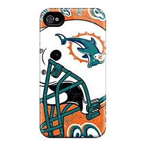 Shock Absorbent Hard Phone Covers For Iphone 6 (MYC13445emSC) Support Personal Customs Stylish Miami Dolphins Pictures