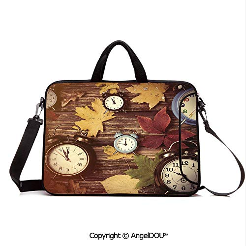- AngelDOU Laptop Sleeve Notebook Bag Case Messenger Shoulder Laptop Bag Different Colored Dry Maple Leaves Various Alarm Clocks on Wooden Planks Print D Compatible with MacBook HP Dell Lenovo Multico