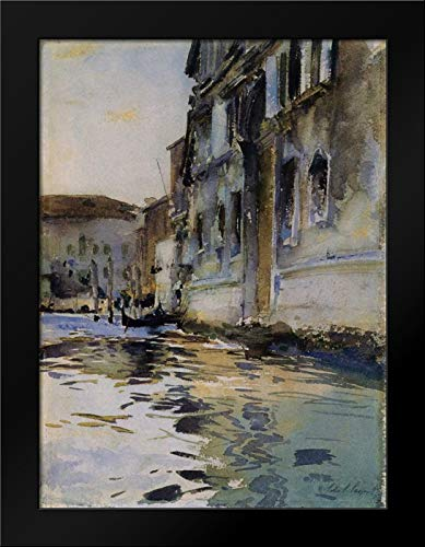 Venetian Canal; Palazzo Contarini Degli Scrigni Framed Art Print by Sargent, John ()