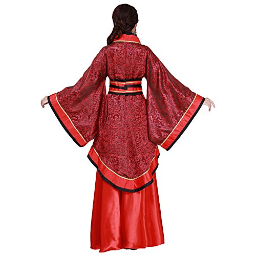 Han Della Fu Classico Modo Corte Tang Donne Zooboo xl Per Rosso Principessa Costume Tradizionale Scuro China Le RwdfxnYA