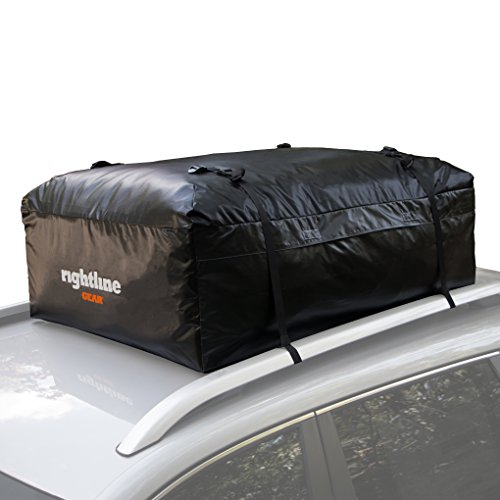 Rightline Gear Ace 2 Car Top Carrier, 15 cu ft, Weatherproof, Attaches With or Without Roof ()