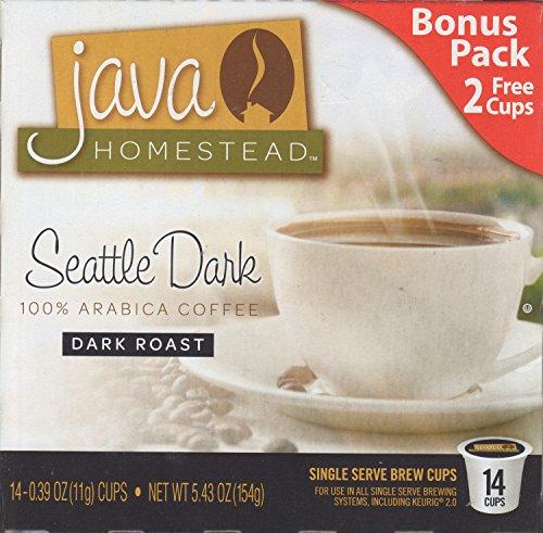 Coffee Tea Seattle (Seattle Dark Roast Coffee 14 Single Serve Cup Pods)