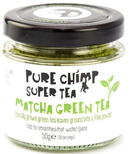 Matcha Green Tea Powder (Super Tea) 50g by PureChimp - Ceremonial Grade...