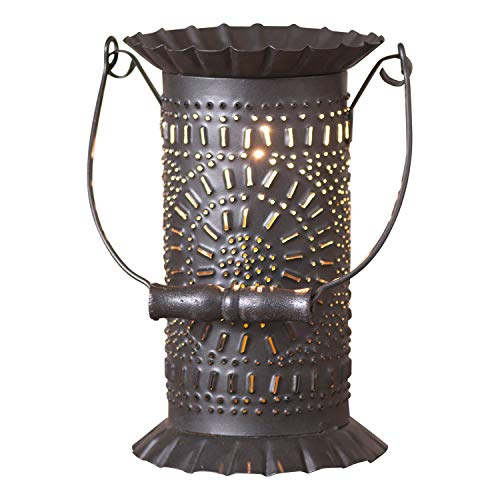 3' Bail Handle (Irvin's Tinware Prairie Wax Warmer with Chisel Design 8.5