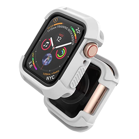 huge selection of 202e1 2dff7 UMTELE Compatible with Apple Watch Case 38mm,Shock Proof Bumper Cover  Scratch Resistant Protective Rugged Case Replacement for Apple Watch Series  3, ...