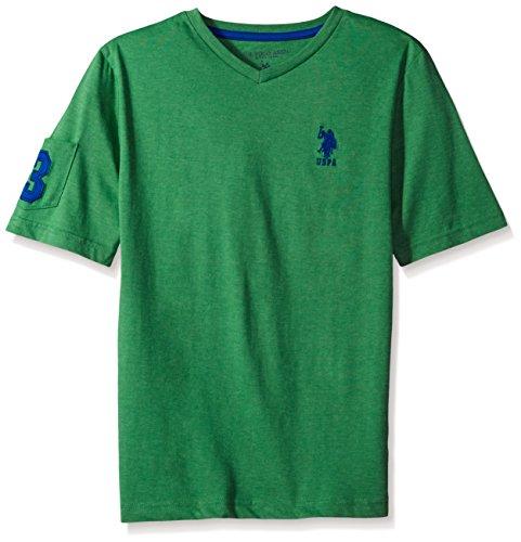 U.S. Polo Assn. Boys Solid V-Neck T-Shirt