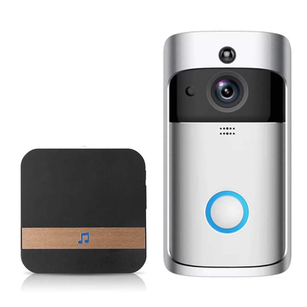 Mandii Video Wireless Doorbell WiFi HD Home Security Wide Angle Night Vision Doorbell Kits by Mandii (Image #1)
