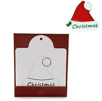 KABSJ Baking mould Serie de Navidad Quiche Tarta Cookie Cake Molde para Hornear Galletas panadería Respaldo raspado Molde Herramienta, 3pcs/Set Hat, Navidad ...