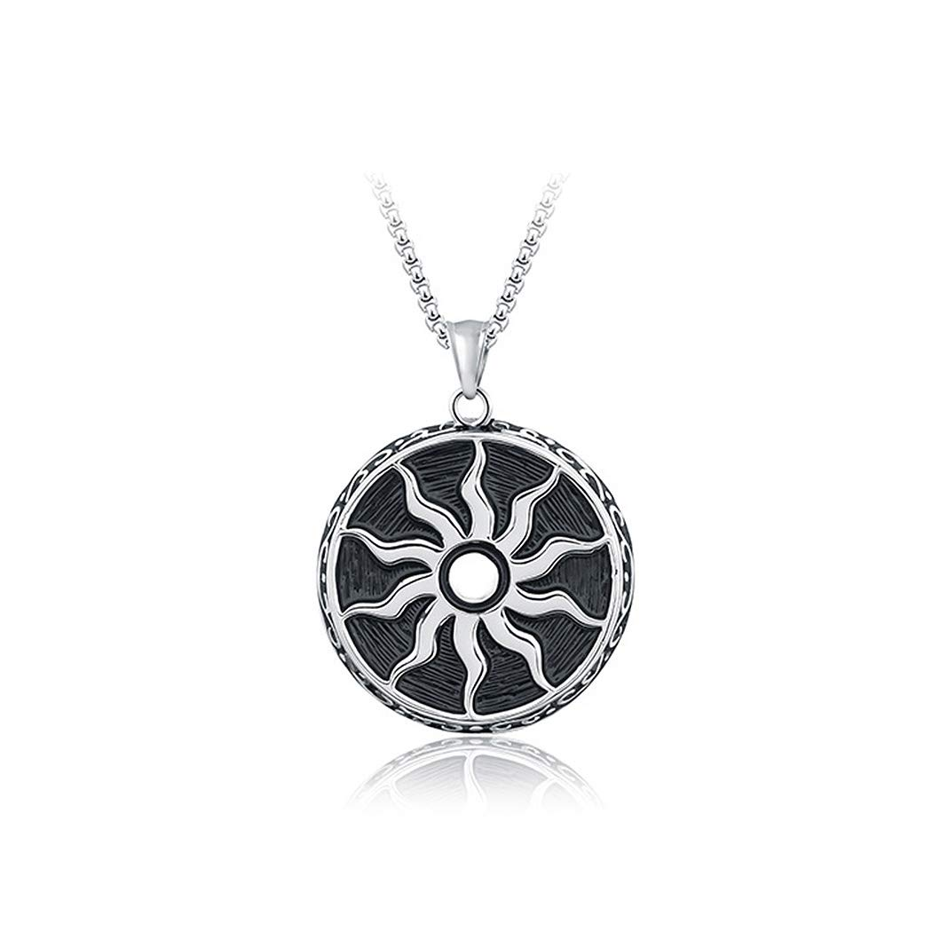 24248 Glamorousky Fashion Sunflower Stainless Steel Pendant with Necklace