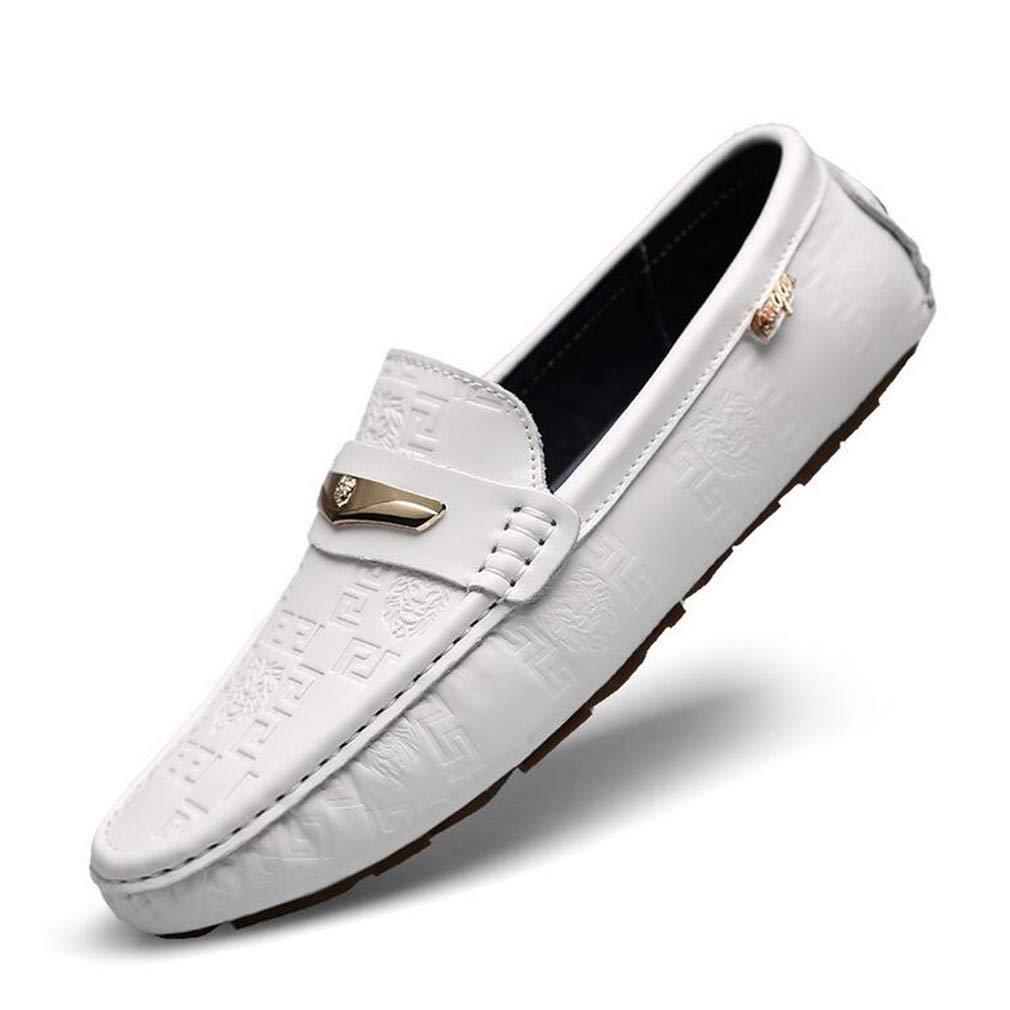 Hy Herrenschuhe Frühlingsschuhe für die Schuhe Flache Atemschuhe Wanderschuhe,Weiß,42