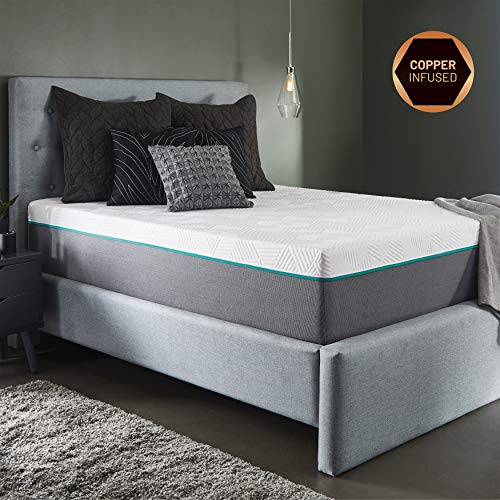 RENUE 12-Inch Hybrid Mattress, Copper & Gel Infused Memory Foam Cool Sleep, Improved Health, Innerspring Support, Mattress in Box, Handcrafted in The USA, Full ()